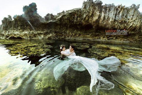 Album cưới biển Hang Rái